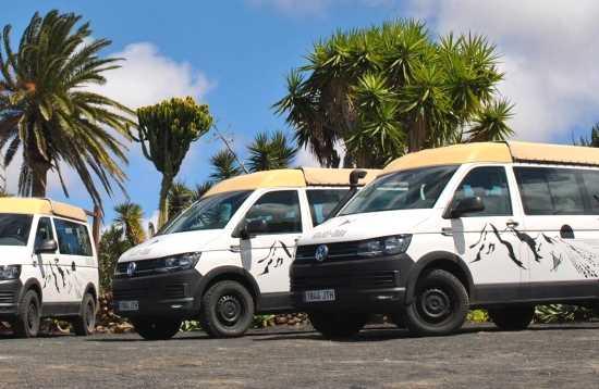 Minibus tour van Lanzarote naar Fuerteventura