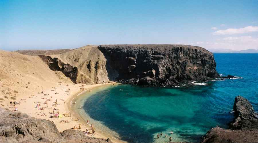 Beaches in south Lanzarote